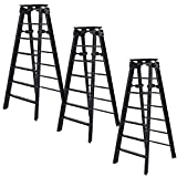 Set of 3 Black Ladders for WWE Wrestling Action Figures
