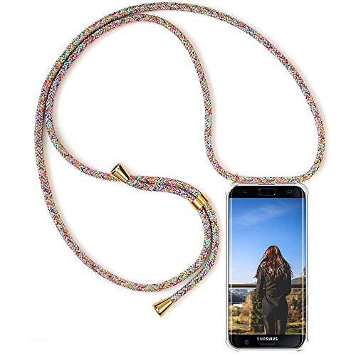 XCYYOO Carcasa de movil con Cuerda para Colgar Samsung Galaxy S7 Edge【Versión Popular 2019】 Funda para iPhone/Samsung/Huawei con Correa Colgante para Llevar en el Cuello -Hecho a Mano en Berlin