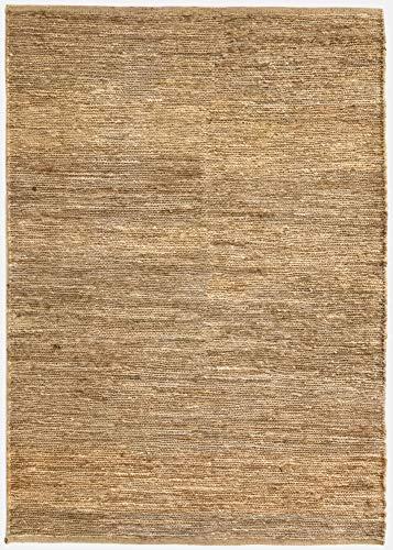 HAMID Alfombra Yute Ubeda Color Natural - Alfombra 100% Fibra de Yute (80x150cm)