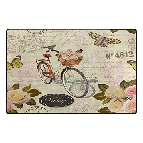 Tapijt Floral Vintage vlinder roze 31 x 20 inch voor woonkamer slaapkamer 60x39 Inches Image 3205