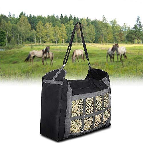 ASOOLL Horse Hay Bag, Slow Feed Feeder Tote Bags Large Capacity Feeding Bag for Horses Goat Alpacas