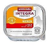 animonda Integra Protect Renal para gatos, comida húmeda para gatos con insuficiencia renal crónica, con ternera, 16 x 100 g