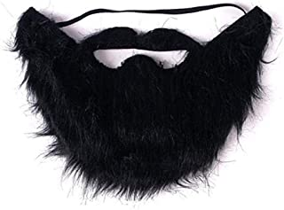 Mustaches Self Adhesive - Costume Party Male Man Fake Beard Moustache Black (1pc)