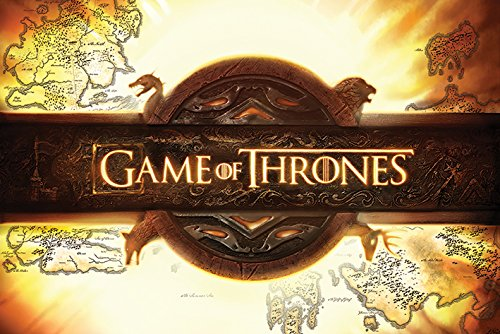 Grupo Erik Editores Game of Thrones Logo Poster, Madera, Multicolor, 91.5x61x0.02 cm