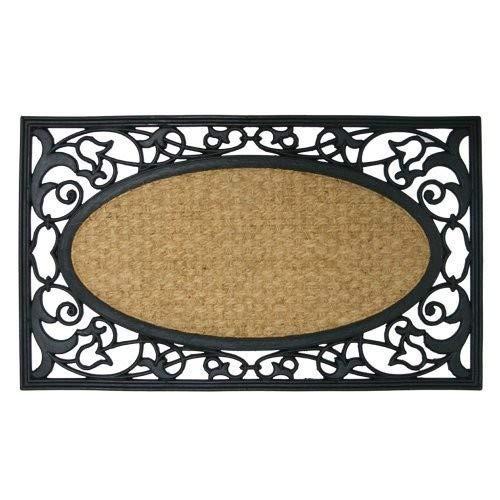 Rubber-Cal 'Celtic Sea Outdoor Coco Coir Decorative Rubber Doormat, 18 x 30-Inch