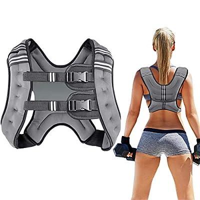 Prodigen Running Weight Vest for Men Women Kids 20 Lbs, Body Weight Vests for Training Workout, Jogging, Cardio, Walking Elite Adjustable Weighted Vest Workout Equipment-Gray,20lbs