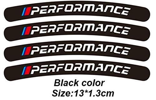 N\A Pegatinas para coche de 4 unidades, Power Performance M, para BMW E34, E36, E60, E90, E46, E39, E70, F10, F20, F30, X5, X6, X1, M3, M5, M6, E71, F01, F02, F87, color negro