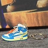 LANPAOPAO Air Jordan Shoe Keychain, Retro Shoe Rubber Sneaker Keychains Hype Beast (1 Pair) F