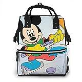 Mochila para pañales - Minnie Mouse Esquí Multifunción Impermeable Mochila de Viaje Pañales Bolsas Cambiantes