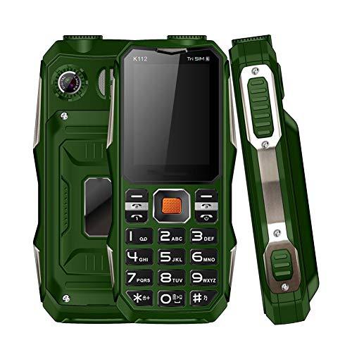 Goshyda Mini teléfono de 2.4 '', 3200mAh Extendido 32GB Frontal Trasero HD Teléfono móvil con Doble cámara con 3 Tarjetas SIM y Funciones de Linterna y Banco de energía, para los Mayores(Verde)