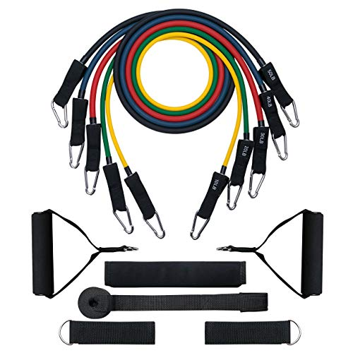 Resistance Bands, OMORC Resistance Bands Set & Updated with New Model Door Anchor & Band Guard,Fitness Tubes Set for Building Muscle,Keeping Healthy,at Home/Gym