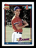 Chipper Jones Rookie Card 1991 Topps #333. rookie card picture
