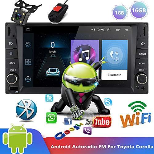Android 9.0 Bluetooth autoRadio 7' Reproductor multimedia Auto Radio Reproductor de video estéreo WIFI Navegación GPS MP5 MirrorLink FM Para To/yota Corolla con cámara de visión trasera y DVR