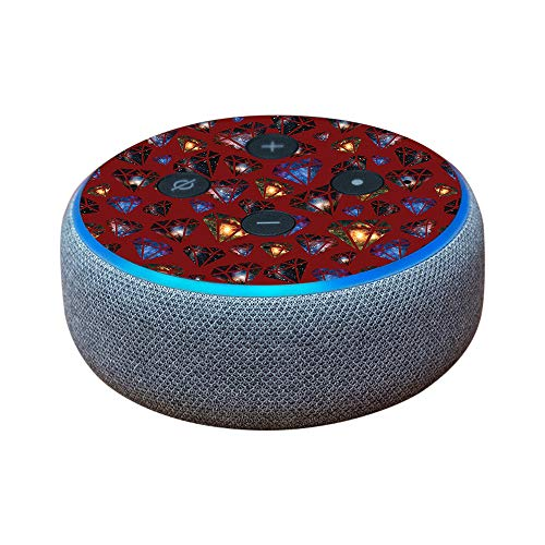 MightySkins Skin Compatible with Amazon Echo Dot (3rd Gen) - Green Distortion | Protective, Durable, and Unique Vinyl Decal wrap Cover | Easy to Apply, Remove, and Change Styles | Made in The USA