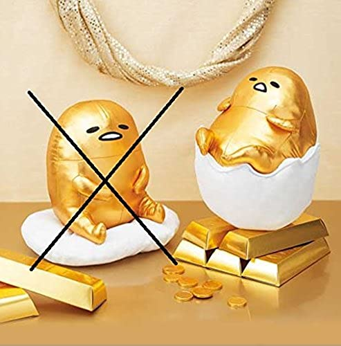 Gudetama sit & egg shells ride BIG shiny stuffed egg shells ride (single)