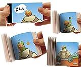 La Tortuga y el Caracol: el Flipbook Cine de Dedo - Mini Libro Plegable con Animales para niños