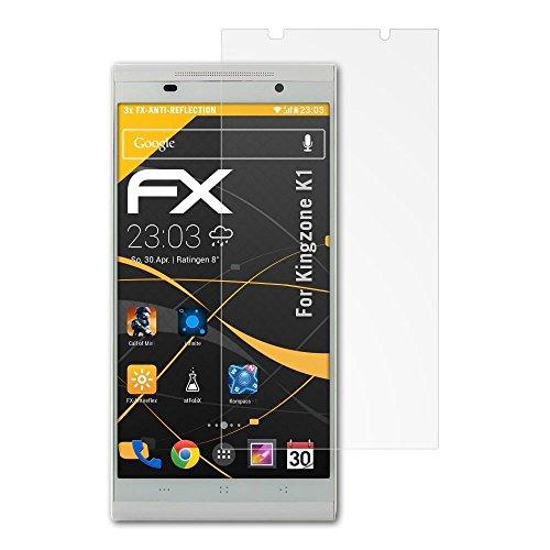 atFoliX FX-Antireflex, Kingzone K1 K1 Antiblend-Displayschutz 3Stück(e) - Bildschirmschutzfolien (Kingzone K1, Antiblend-Displayschutz, Kingzone, K1, Kratzresistent, Transparent, 3 Stück(e))