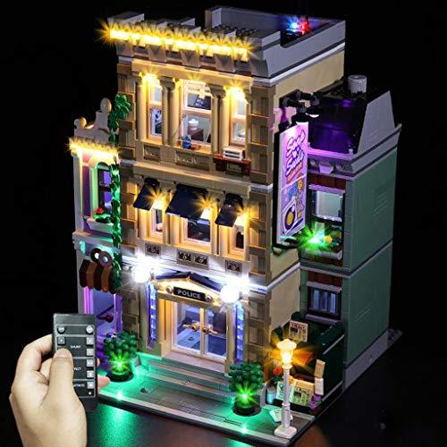 WFTD Juego De Luces LED Compatible con La Estación De Policía Lego 10278 - Modelo De Bloque De Construcción con Vista A La Calle Lámparas A Juego - No Incluye El Modelo Lego