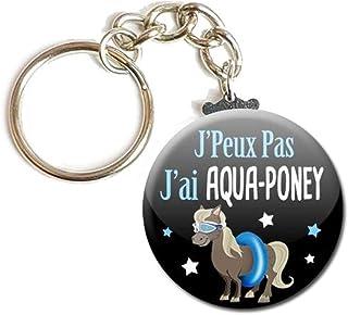 Porte Clés Chaînette 3,8 centimètres j' peux pas j' ai Aqua Poney Idée Cadeau Accessoire Humour Homme Femme Excuse