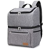 PREMIUM MATERIALS: The exterior of the Cooler Bag is constructed out of high-density, water-resistant, dirt-proof 1680D Oxford fabric making it durable, waterproof and easy to clean. The interior lining is made of food-grade PEVA and padded with 8mm ...