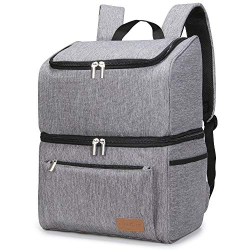 Lifewit 18L (34-Can) Double-Decker Soft Cooler Backpack with Hard Liner,...