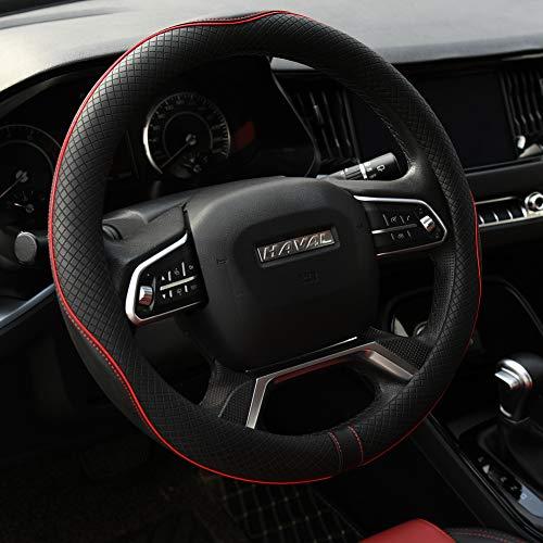 Rueesh Microfiber Leather Steering Wheel Cover Anti-Slip Matte...