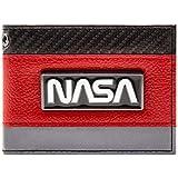 NASA Exploration dello spazio del distintivo d'argento Rosso Portafoglio
