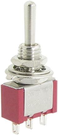 3 Posiciones 9 Pin Cierre Interruptor Conmutador 3PDT Rojo Ladrillo AC 380V 10A ON-OFF-ON