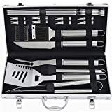POLIGO 20pcs Barbecue Grill Utensils Kit Stainless Steel BBQ Grill Tools Set - Camping Grill...