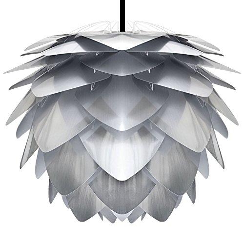 Umage/VITA Silvia Steel Hängeleuchte für A++ bis E inkl. Kabel und Fassung grau, Kabel schwarz D 45 cm Lampe