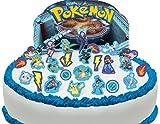 Vorgeschnittene und Essbare Pokemon Szene Kuchen Topper (Tortenaufleger, Bedruckte Oblaten, Oblatenaufleger)