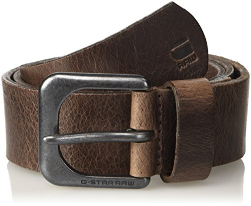 G-STAR RAW ZED Belt Cinturón, Marrón (Dk Brown/black Metal 8127), 105 para Hombre