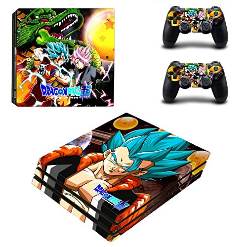 XIANYING Dragon Ball Ps4 Pro Skin Sticker (For Playstation 4 Pro Console 2 Controller)