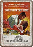DGBELL Gone with The Wind Clark Gable Blechschild Wandkunst