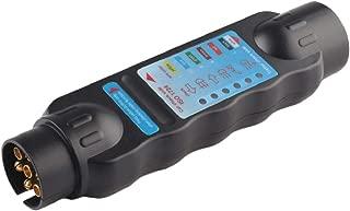 KIKIRon Testeur de Batterie de Voiture 12V 24V testeur de Batterie de Voiture num/érique alternateur d/étecteur Voiture Prise Allume Outil de Diagnostic avec 6 Indicateur LED