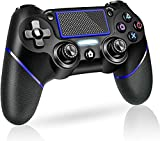 PS4 Controller Wireless Gamepad, [Upgraded Version] for Playstation 4/Pro/Slim/PC(7/8/8.1/10), Touch Panel Gamepad with Dual Vibration and Audio Function Anti-Slip Grip, Mini LED Indicator(Blue)
