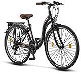 Licorne Bike Stella de 28 Pulgadas, Bicicleta Paseo, Bicicleta para Mujer, Desde 160 cm, luz de Bicicleta, Cambio de...