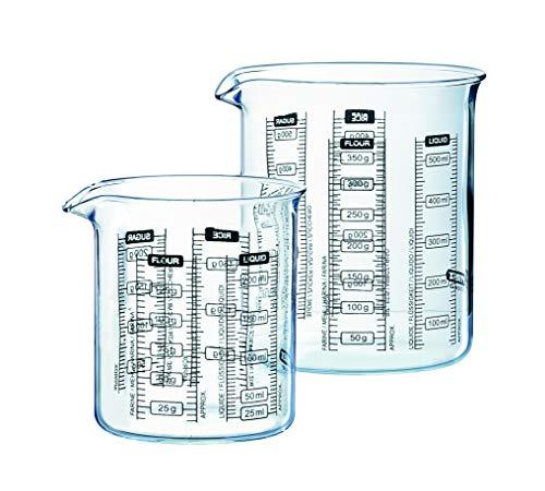 Pyrex - Set di 2 Bicchieri calibrati in Vetro