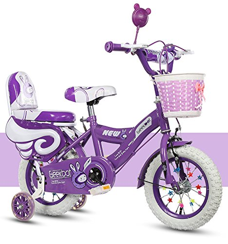 GEEKBOT Bicicleta niña 14 Pulgadas - Niño 4-9 años de Edad