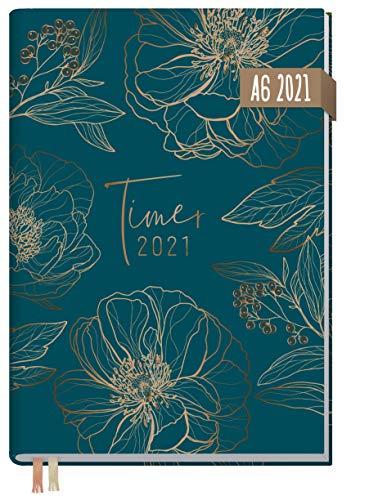 Chäff-Timer Mini A6 Kalender 2021 [Goldblüte] mit 1 Woche auf 2 Seiten | Terminplaner, Wochenkalender, Organizer, Terminkalender mit Wochenplaner | nachhaltig & klimaneutral