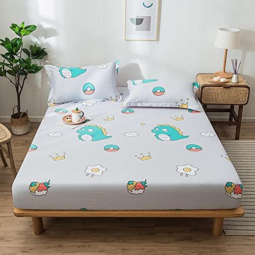 CYYyang Protector de colchón - cubrecolchón Transpirable Sábana de algodón a Prueba de polvo-13_150cm × 200cm
