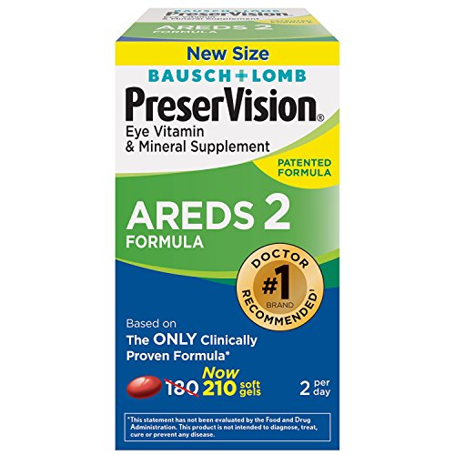 PreserVision AREDS Vitamin, Mineral Supplement, 1 Pack, 210 Count