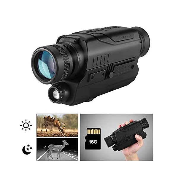 BOBLOV Digital Night Vision Monocular 5x32 Optics Scope Night Vision Infrared with 16GB Card For Hunting Observe …