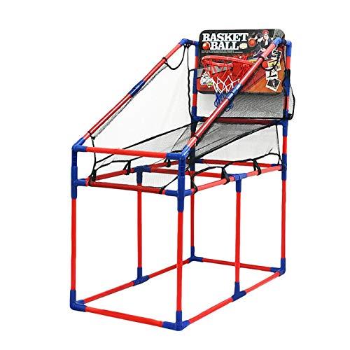 DAUERHAFT Sistema del Juguete del Soporte del Baloncesto del Sistema de la Cesta del aro de los niños, Entrenamiento de los Deportes, Juego del Deporte al Aire Libre