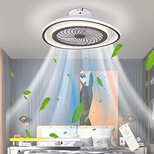 LED 36 * 2W Ventilatore a soffitto con luce di illuminazione dimmerabile telecomando regolabile velocità del vento regolabile lampada moderno camera letto soggiorno sala pranzo sala lampadario Ø48 cm