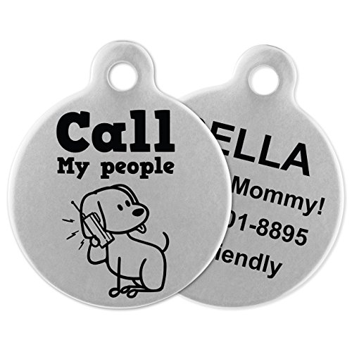 If It Barks - Engraved Pet ID Tags for Dogs - Personalized Stainless Steel Identification Tags - Custom Name Tag Attachment - Made in USA, Call My People