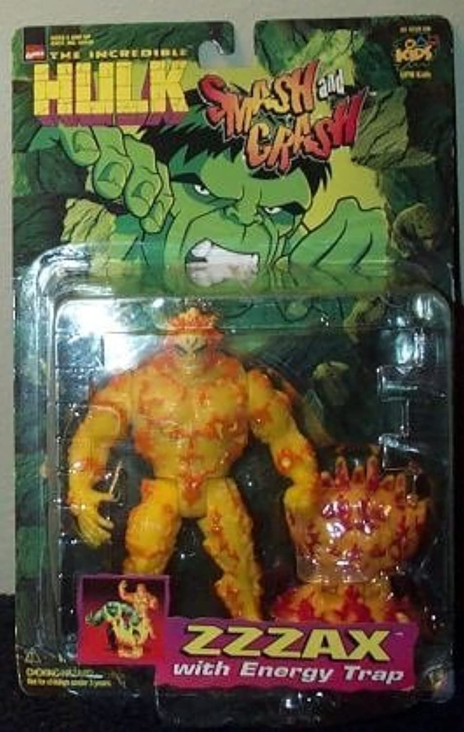 Smash and Crash the Incredible Hulk ZZZAX Action Figure by Toy Biz