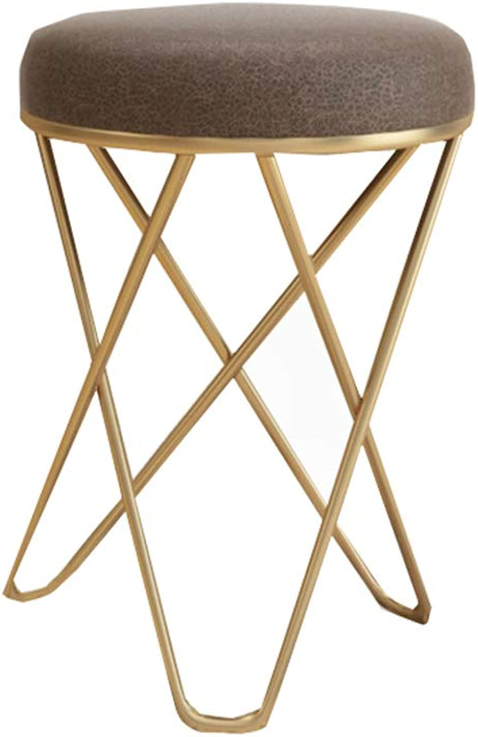Nordic Wrought Iron Living Room Small Stool Modern Sofa Change shoes Stool Fabric Small Stool Creative Dressing Stool Chair