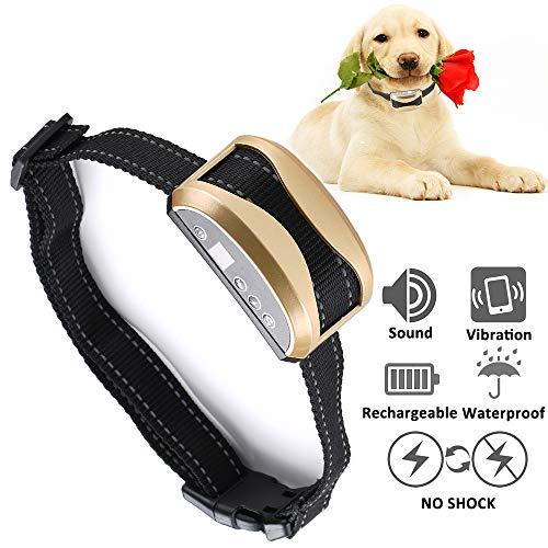 Bark Collar Dog Training Collar Anti-Barking Device Safety Non harmful bark collar For Large Medium Small Dog Upgrade 7 Sensitivity Beep Vibration, USB Rechargeable Waterproof NO Barking and Shocking