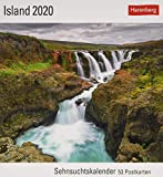 Island Postkartenkalender 2020. Wochenkalendarium. Blockkalender. Format 16 x 17,5 cm - Harenberg